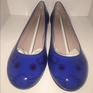 Marc Jacobs Blue Leather Mouse Flats